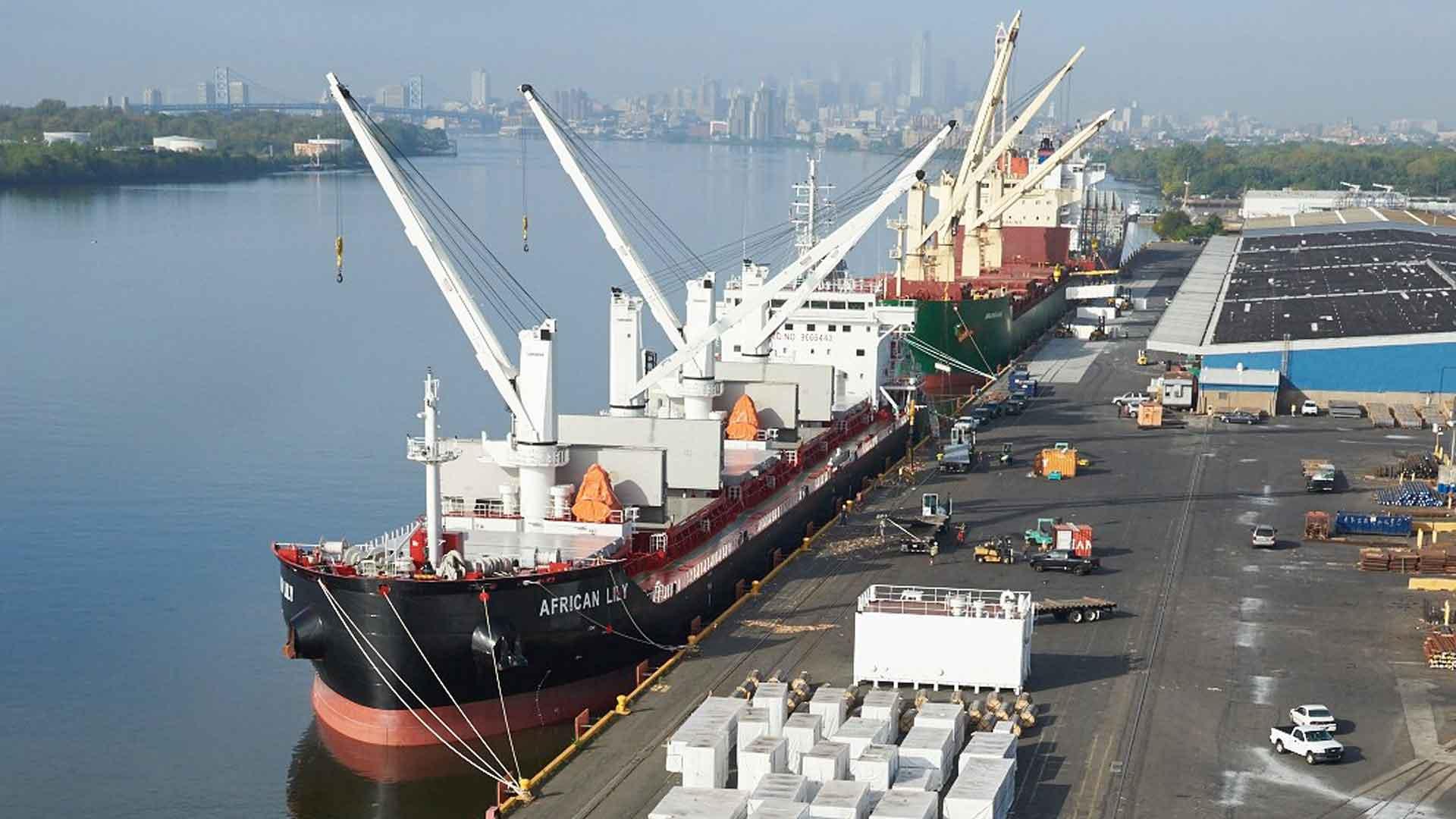 Philadelphia Port Ships Docked